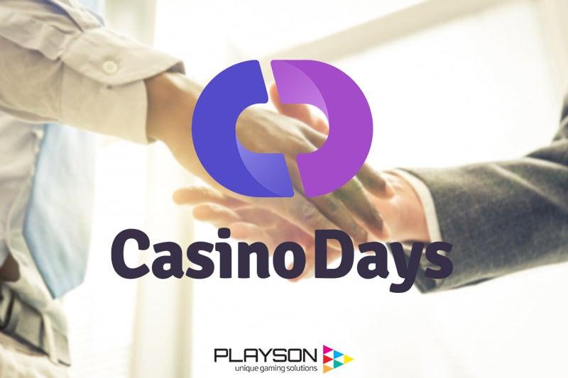 Playson ส่งเกมจำนวนมากให้Casino Days